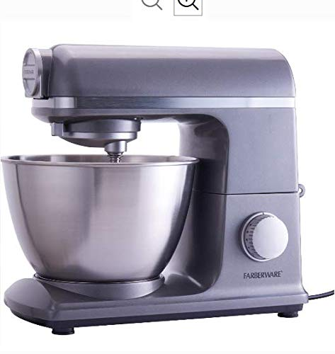 Farberware 6 Speed 4.7 Quart Professional Stand Mixer, Gun Metal