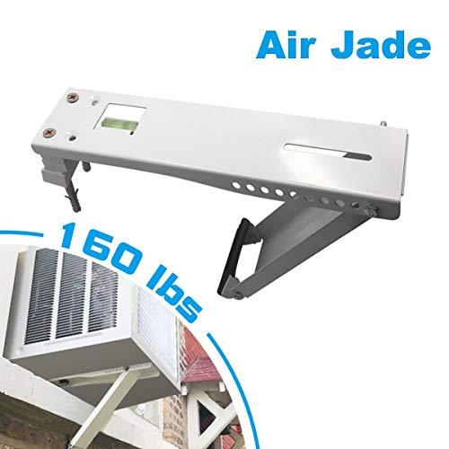 Air Jade Universal AC Window Air Conditioner Bracket, 160lbs, Designed 7,000 to 22,000 BTU Sized Units, Heavy Duty Support Brackets (L)