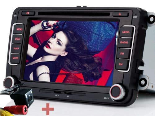 iFreGo 7 Zoll 2 Din Autoradio,Rückfahrkamera + Autoradio,Für VW Golf 5/6,Für Passat CC,FürTiguan,Für Polo,Für Touran,Für Candy, Für Sharan, Navigation,Autoradio Bluetooth