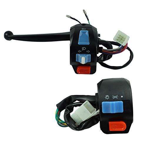 Control Interruptor Manillar 1 par de Motocicleta Impermeable Motocicleta a la Izquierda y Derecha Control de Control de la Manillar Cuerno Señal de Giro Interruptor De La Motocicleta