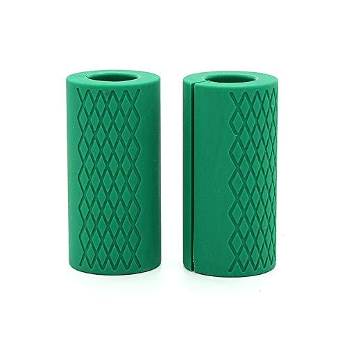 GLE2016 Langhantel-Griffe, rutschfeste Gummigriffe für Gewichtheben, Hantelgriffe, Stressabbau, Handschutz, Klimmzugband-Arm, Blaster-Adapter für Standard-Sechskant-/Bizeps-/Trizeps-/Shrug Bars (grün)