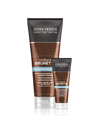 John Frieda, Brilliant Brunette Conditioner Colour Protection Für Braunes Brünettes Haar Vorteilsset, 300 ml