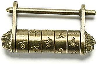 caja de colecci/ón Candado con contrase/ña de texto antiguo armarios candado de madera para puertas de cajones