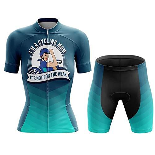 WPW Maillot de Ciclismo para Mujer con Culotte con Tirantes, Trajes de...