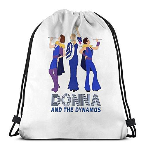 ANGSHI6 Drawstring Bags Donna And The Dynamos Mamma Mia Drawstring bag unisex classic sports backpack storage bag travel bag
