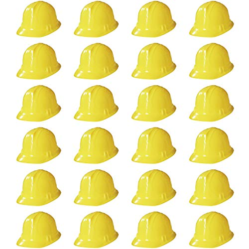 Novelty Place Construction Party Hats - Dress Up Soft Hats for Kids and Adults (Pack of 24)