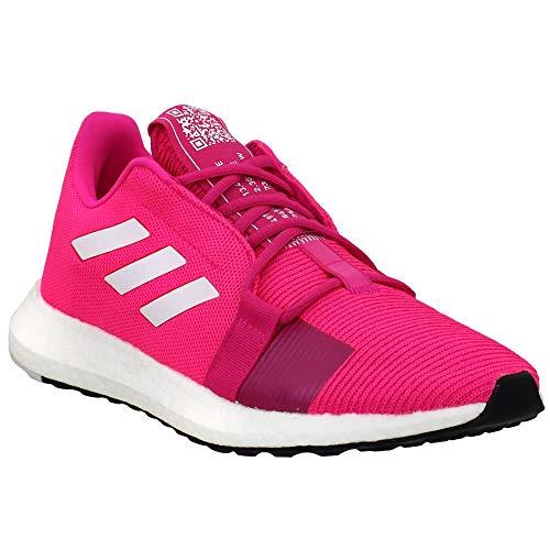 adidas Womens Senseboost Go Running Sneakers Shoes - Pink -...