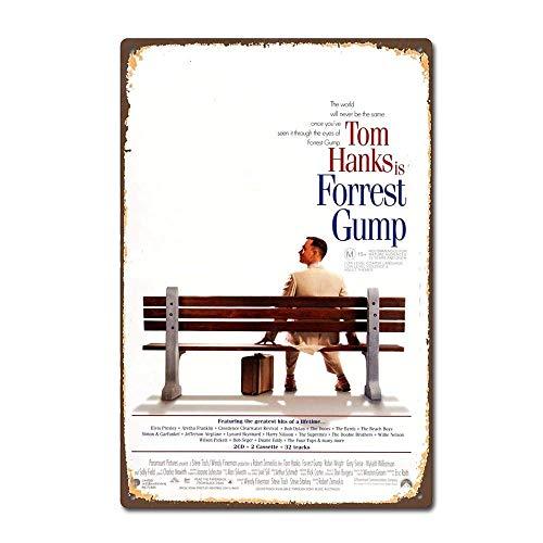 HiSign Forrest Gump American Film Movie Blechschilder Metall Poster Warnschild Retro Schilder Blech Blechschild Wanddekoration Malerei Bar Cafe Küche Garten