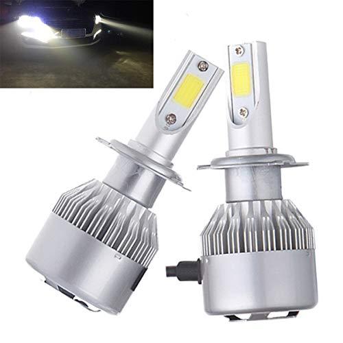 GOFORJUMP 2pcs 80W 7600LM 9006 / HB4 COB LED Phare de Voiture diurne Course Lampe de Conduite Super Lumineux Ampoule de Brouillard 6000K IP68 12-36
