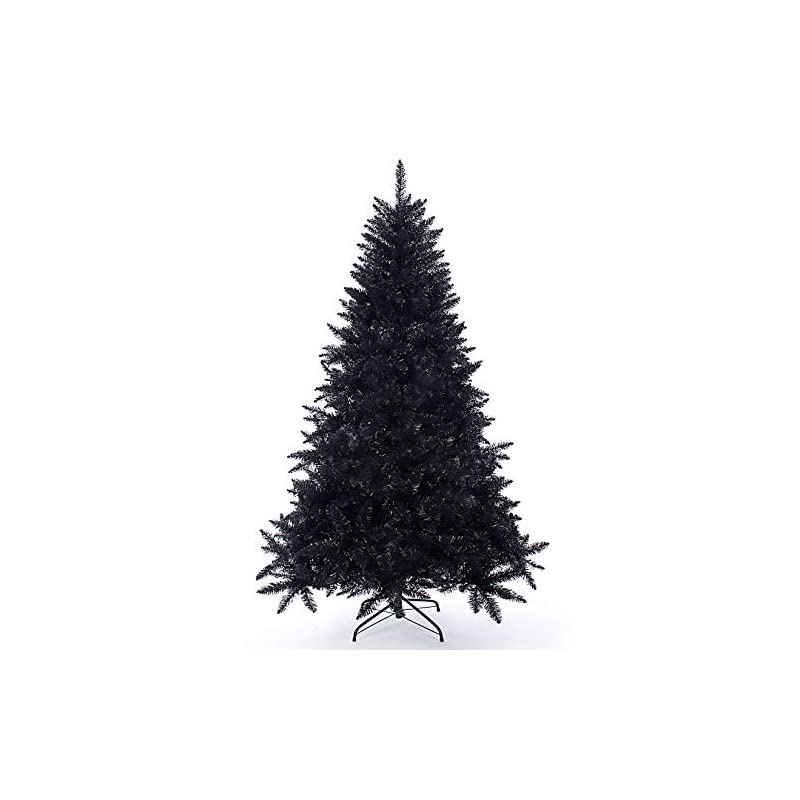 silk flower arrangements artificial christmas tree classic xmas pine tree with solid metal stand 5/6/7 ft unlit (black)