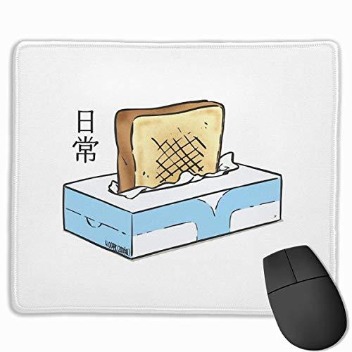 Maus Mausunterlage,Optimale Gleitfähigkeit Anti Rutsch Matte,Mausmatte,Office Mauspad,Gaming Mausepad,Vernähte Kanten Pad Maus Unterlage,Nichijou - Tissue Box Toaster