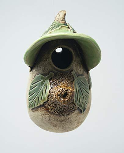 Vogelhaus aus Keramik handgefertigt 2 Fach gebrannt wetterfest