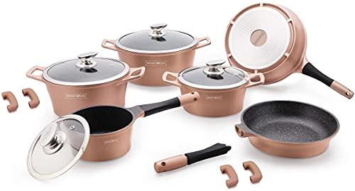 Royalty Line - Batterie de cuisine 14 pièces Induction céramique - Cuivre