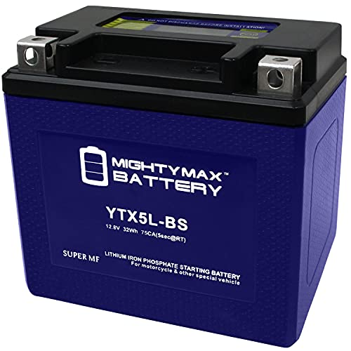 Mighty Max Battery YTX5L-BS Lithium Battery Replacement for BTX5L-BS, CB5L-B Brand Product