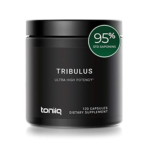 Ultra High Strength Tribulus Capsules - 95% Steroidal Saponins - 1300mg Concentrated Extract Formula - The Strongest Testosterone Booster Available - 120 Caps