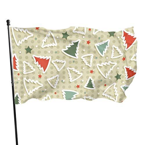 LL-Shop Modèle de décoration d'arbre de Noël Rouge Fly Breeze 3x5 Pied Drapeau, Drapeaux de Plage durables résistants à la décoloration avec en-tête et œillet en Laiton