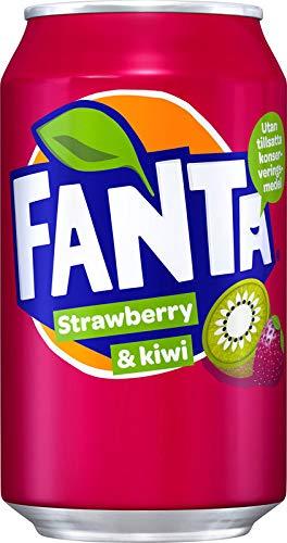 1 x 24 Fanta Strawberry & Kiwi (24 x 0,33 L Dosen) EINWEG inkl. gratis FiveStar Kugelschreiber (Europa)