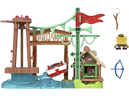 Fisher-Price Imaginext SpongeBob Camp Coral, campground playset with SpongeBob SquarePants figure for preschool kids ages 3-8 years
