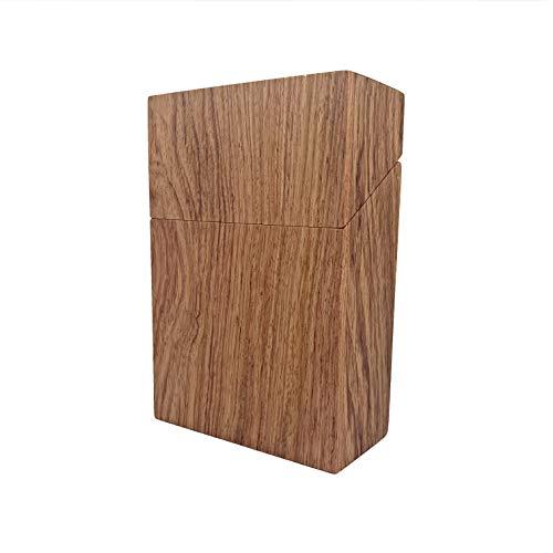 Zigarettenbox XXL Holz Zigarettenetui 30er Box für 30 Zigaretten Bambus Nachhaltig Magnet Verschluss Elegant (Rosenholz, XXL - 30er)