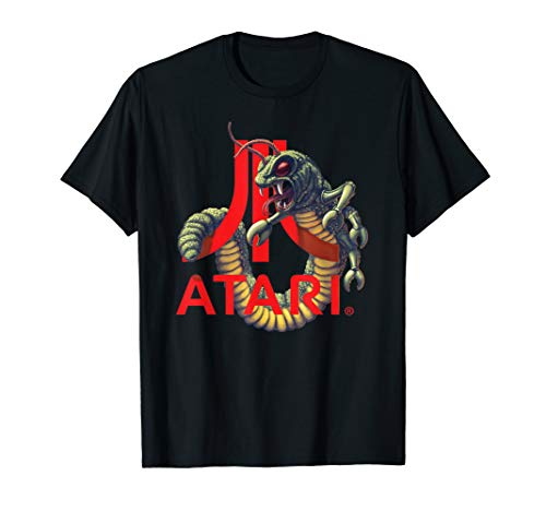 Official Atari Logo With Centipede Arcade Game T-Shirt, Adults, Kids, S to 3XL