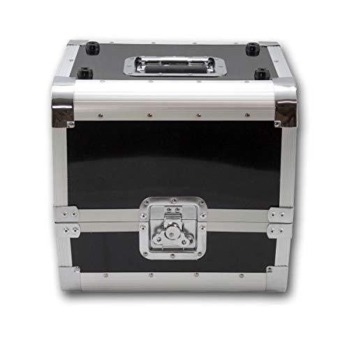 SATISFIRE® Plattenkoffer LP80 • Aluminium-Koffer • Vinyl-Case • Schallplattenkoffer • für 80 LP 50:50 Teilung …
