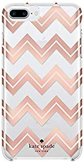 Kate Spade New York Protective Hardshell Case for iPhone 8/7 / 6s / 6 - Moroccan Chevron/Blush/Rose Gold Foil