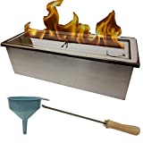 Kaminbau Miezwa Large adjustable stainless steel 2 liter burner for gel and ethanol fireplaces