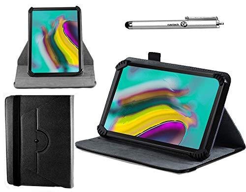 Preisvergleich Produktbild Navitech schwarz Ledertasche mit 360 Drehständer und Stift kompatibel mit dem BEISTA 10.1 Inch Tablet / BENEVE 10.1 Inch Andriod Tablet / CHAOHENG 10 Inch Tablet