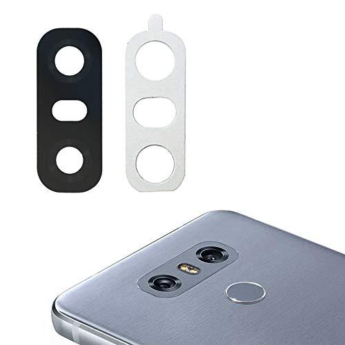 Cemobile Lente Vetro Fotocamera Posteriore con Adesivo per LG G6 H870 H871 H872 LS993 VS998 (Nero)