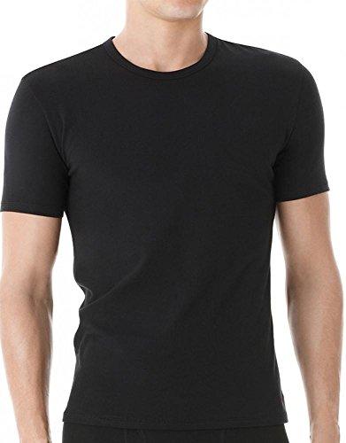 Calvin Klein Men's Cotton Stretch Crew - 2 Pack, Black, Large