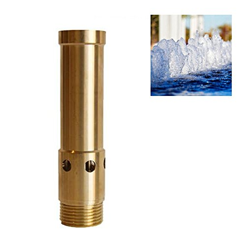 NAVADEAL 1/2' DN15 & 3/4' DN20 Brass Bubbling Foam Water Fountain Nozzle Spray Pond Sprinkler - for Garden Pond, Amusement Park, Museum, Library