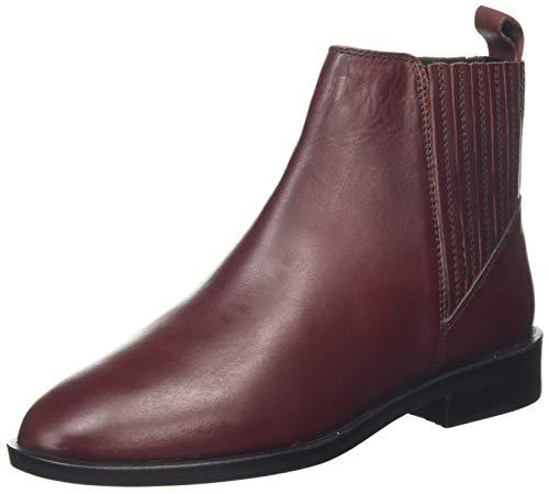 Dorothy Perkins Oslo Leather Chelsea Boots, Bottes Femme, Rouge (Oxblood 532), 38 EU