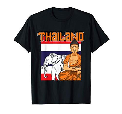Thailändische Flagge Bangkok Elefant Thailand T-Shirt