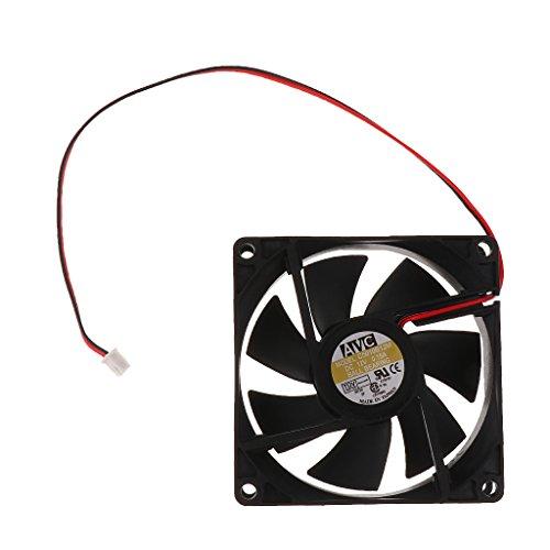 LOVIVER Delgado 80 Mm 8 Cm Caja de La Computadora Ventilador Refrigerador de Enfriamiento de 2 Pines Silencioso Sin LED