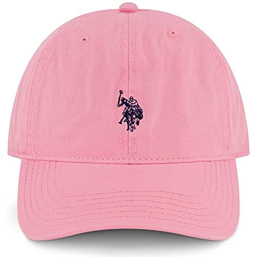 U.S. POLO ASSN. Herren Cotton Adjustable Curved Brim Baseball Cap with Embroidered Small Pony Logo Baseballkappe, Rose, Einheitsgröße