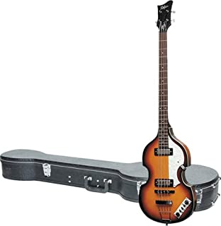 $499 » Hofner Icon Series Beatle Bass Left Handed Guitar with Icon B Bass Hardshell Case