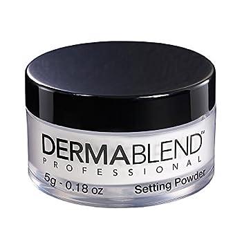 Dermablend Loose Setting Powder Translucent Face Powder Makeup & Finishing Powder Mattifying Finish and Shine Control  Travel Size .18oz.