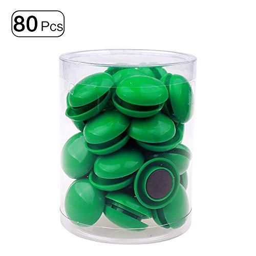 80 Stks Koelkast Whiteboard Magneten Magnetische Knop Rond Kunststof voor Office School Rood 20mm Groen
