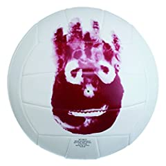 """Replica of Wilson from the movie """"Cast Away"""" Top quality synthetic leather cover material Butyl rubber bladder for extended air retention 18-panel machine sewn construction for great durability Official size outdoor volleyball"""