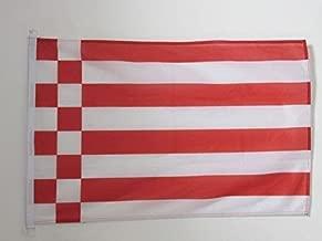AZ FLAG Bremen Nautical Flag 18'' x 12'' - Germany - German Region of Bremen Flags 30 x 45 cm - Banner 12x18 in for Boat