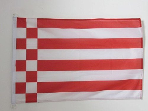 AZ FLAG BOOTFLAGGE Bremen 45x30cm - Bremen BOOTSFAHNE 30 x 45 cm Marine flaggen Top Qualität