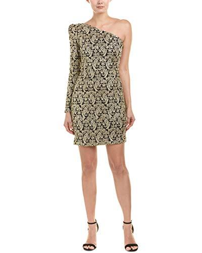 Nicole Miller Damen Kleid mit Pailletten und Paisleymuster - Gold - 40