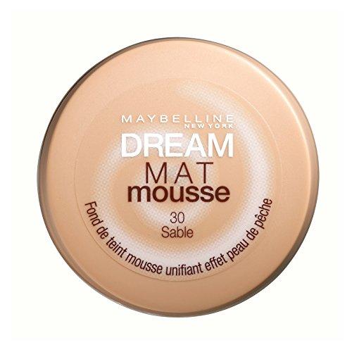 Maybelline New York Dream Mat Mousse Fond de Teint Mat Unifiant En Mousse Micro-Aérée 70 Cacao 1 Unité