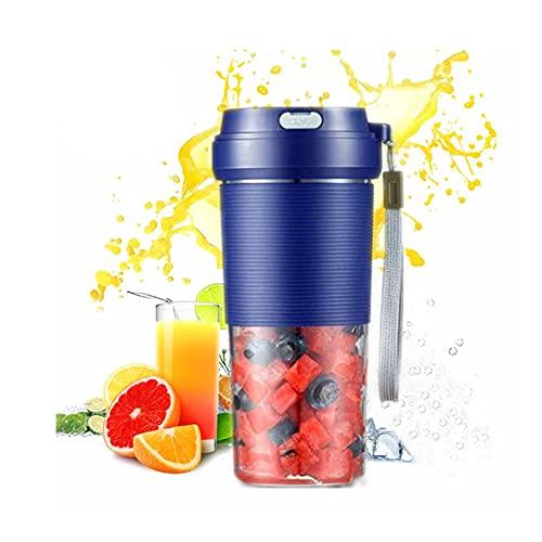 Hcyx Licuadora portátil, Mini licuadora Personal de 10 oz para jugos, Batidos y Batidos, exprimidor Recargable USB, hogar, Viajes, Oficina(Color:A)