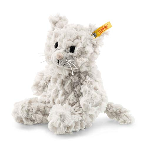 Steiff 99274 Whiskers 18 hellgrau Katze, GRAU