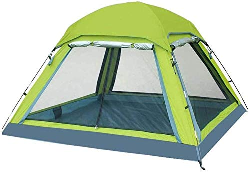 Plztou Tent for Camping Tent 2 People Fishing Tent Outdoor 3-4 People Family Automatic Tent Field Camping Rainproof Breathable Anti-mosquito