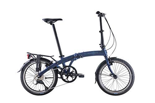 DAHON Bicicleta Plegable 9 Speed Mu D9, Azul, 20 Pulgadas