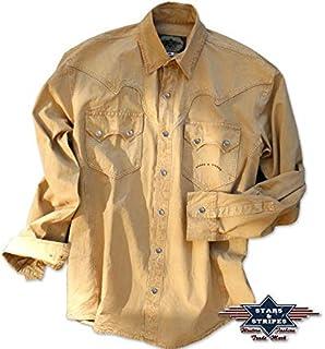 STARS & STRIPES Camisa Western Jack Maverick Beige Talla L