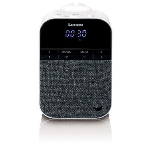 Lenco PPR-100 - Steckdosen-Radio mit Nachtlicht - Bewegungsmelder - Bluetooth 5.0 - 3 Watt RMS - integrierter Akku - weiß