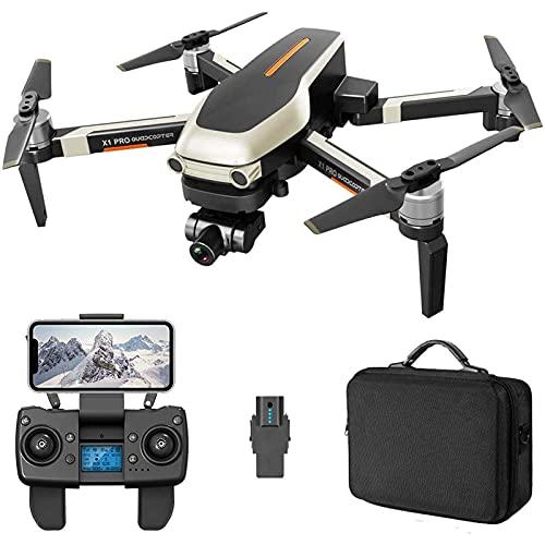 DCLINA Droni GPS Professionali scientifici con videocamera UHD 4K per Adulti 1200 mDistanza Gimbal stabilizzatore a Due Assi 5GHz WiFi FPV Live Video RC